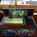 Pretty awesome old school juke box that worked!