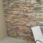 Rock feature on Balcony privacy wall