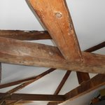 original beams on the celing