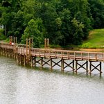 Nice walking bridge to other activities and camping.