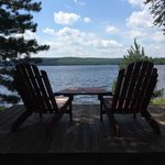 Hay Lake lodge - Adirondack chair view - cabin #2