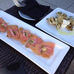 salmon nachos and artichoke at Ibiza