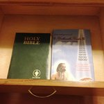 Religious texts in night stand