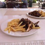 Jerk chicken from Aquamarina Beach Bar & Grill 7/10/14