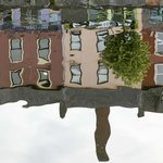 photo taken by me of the reflection of a beautiful building on the river Lee, Cork, Ireland