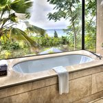 bathtub in our villa with a view