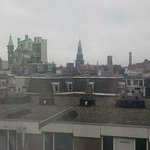 Early morning view of Amsterdam from our room