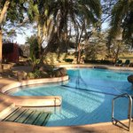 The pool in the Amboseli National Park Serena Hotel