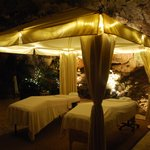 Fabulous massage inside a cave