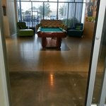 Lobby with pool table