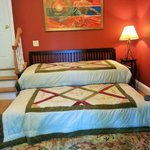 Our Sanctuary Room now features 2 twin beds - perfect for traveling with a friend!