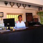 Jorge at the Front desk of Tierra Viva ..Amazing Jorge ..We will miss you