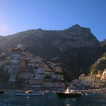 A view of Positano from the water taxi