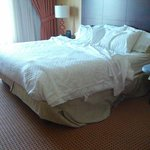 My bed AFTER housekeeping refreshed my room.