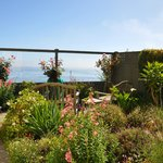 One of the gardens on the property with ocean view