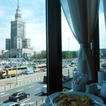 Veiw to Place of Culture and Science from the breakfast restaurant
