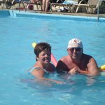 wendy and me in pool