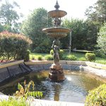 beautiful fountain in front of the Inn