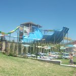 one of the aqua park slides