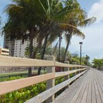 The boardwalk behind the hotel