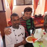 the delicious burji with the help of teh great cook biplob ji at hotel **