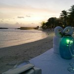 View while having the romantic dinner on the beach (available @ extra $)