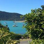 Looking onto Airlie Beach