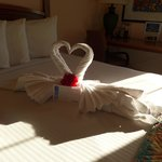 towel origami greeted us :-)
