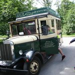 Front door service - vintage tour bus