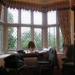 Bay window in the four-poster room
