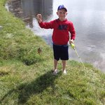 Grandson #1 caught his first fish!