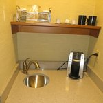 sink and coffee maker
