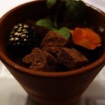 flowerpot dessert with chocolate soil at Mezza9