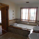 Incredible soaking tub & view of river