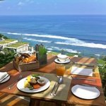 Breakfast with a view of Impossible Beach at Anantara Uluwatu.