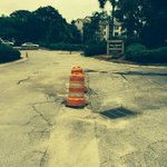Pot holes at entrance way