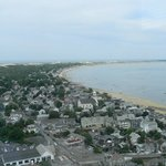 Birds eye view from the top of Pilgrim monument
