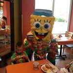 Spongebob Character Breakfast Buffet