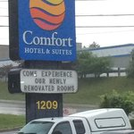 The dreaded Comfort Inn logo