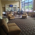 Separate lounge in the lobby