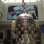 Indy 500 Trophy inside the Hall of Fame