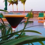 espresso martini and sunset!
