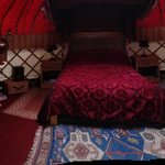 Inside Walnut Yurt