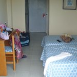 Room. Television,2 English speaking stations. Good air con, not too noisy, good maids,good showe
