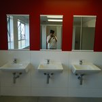 WOMEN'S SHOWER ROOM SINKS &  WALL MIRROR (5TH FLR)