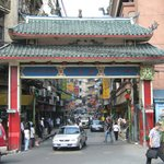 Entrance gate to Chinatown and Ongpin Street close to Sta Cruz Church.