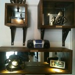 antique touches on the hotel common areas