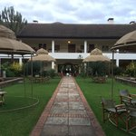 Fairmont Mount Kenya Safari Club main building patio