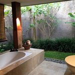Outdoor bath area