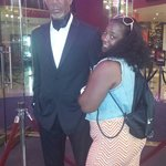 My beautiful wife and Morgan Freeman Times Square New York City July 2014